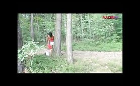 Esibizionisti maiali nel bosco