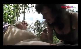 Un bel bocchino nel bosco