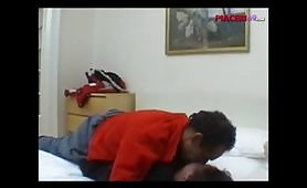 Scena porno amatoriale con giovane cicciona