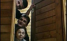 Sesso a tre in sauna